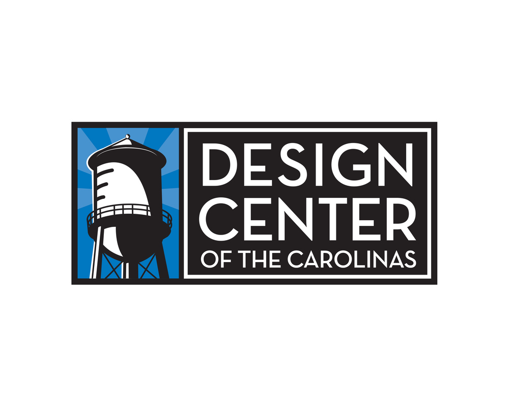 Design Center of the Carolinas   The Design Center of the Carolinas, located in South End Charlotte, NC is a focal point for the design industry in the two Carolinas. It combines an innovative mix of showrooms, studios and offices with resources and services catering to the greater design industry defined in its most comprehensive context. The center has also served as a catalyst for creation of the greater South End Design District which today houses over 100 design related businesses. In 2008, efforts for a rebranding of the neighborhood commensed. The new logo, inspired by the prominent watertower overlooking the neighborhood and the modern, yet nostalgic form elicits the historical, art deco feel reminiscent of art in the days when the building's original use in the textile manufacturing flourished. Bright, bold colors and sharp lines combine to create an iconic, legible illustration and memorable mark.