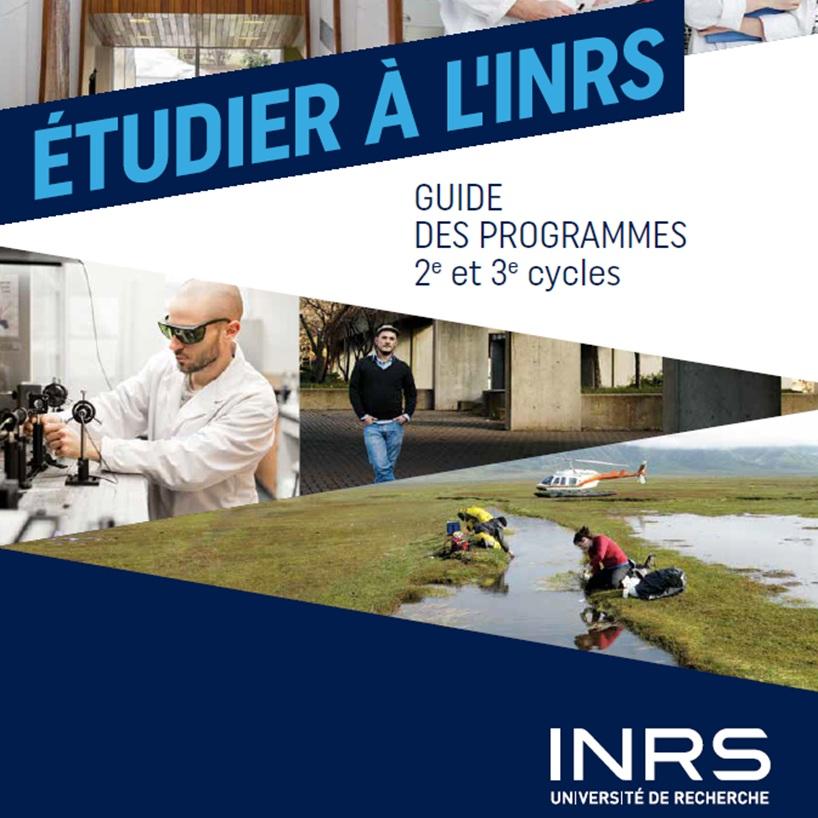 Brochure Étudier à l'INRS