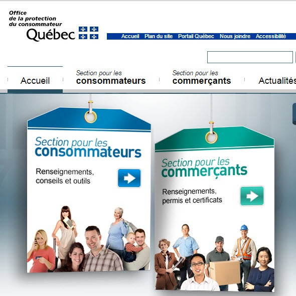 Site web Office de la protection du consommateur