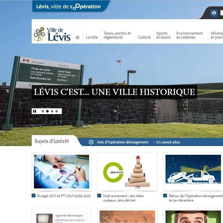 Site web Ville de Lévis