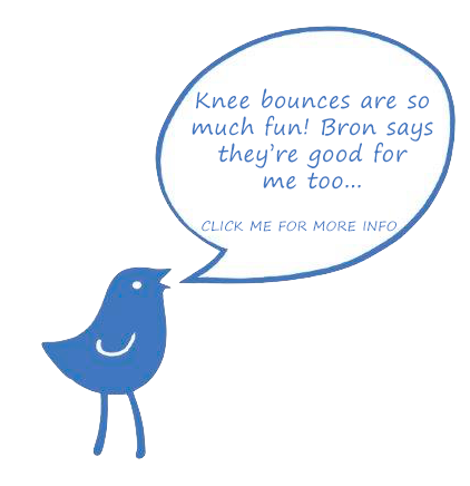Baby bluebird knee bounce