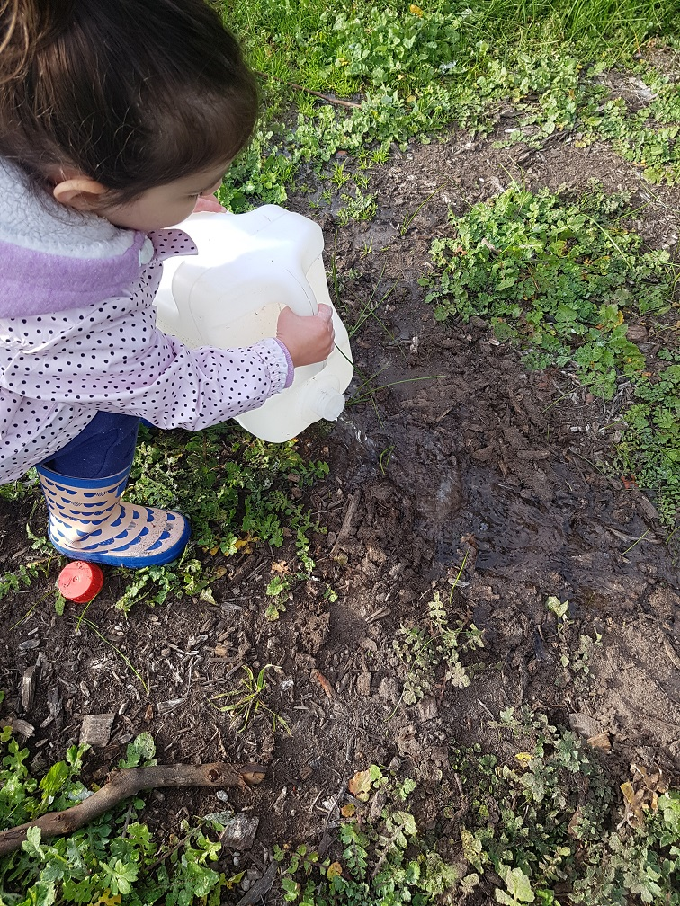 Don't wait for the rain...make your own muddy puddle!