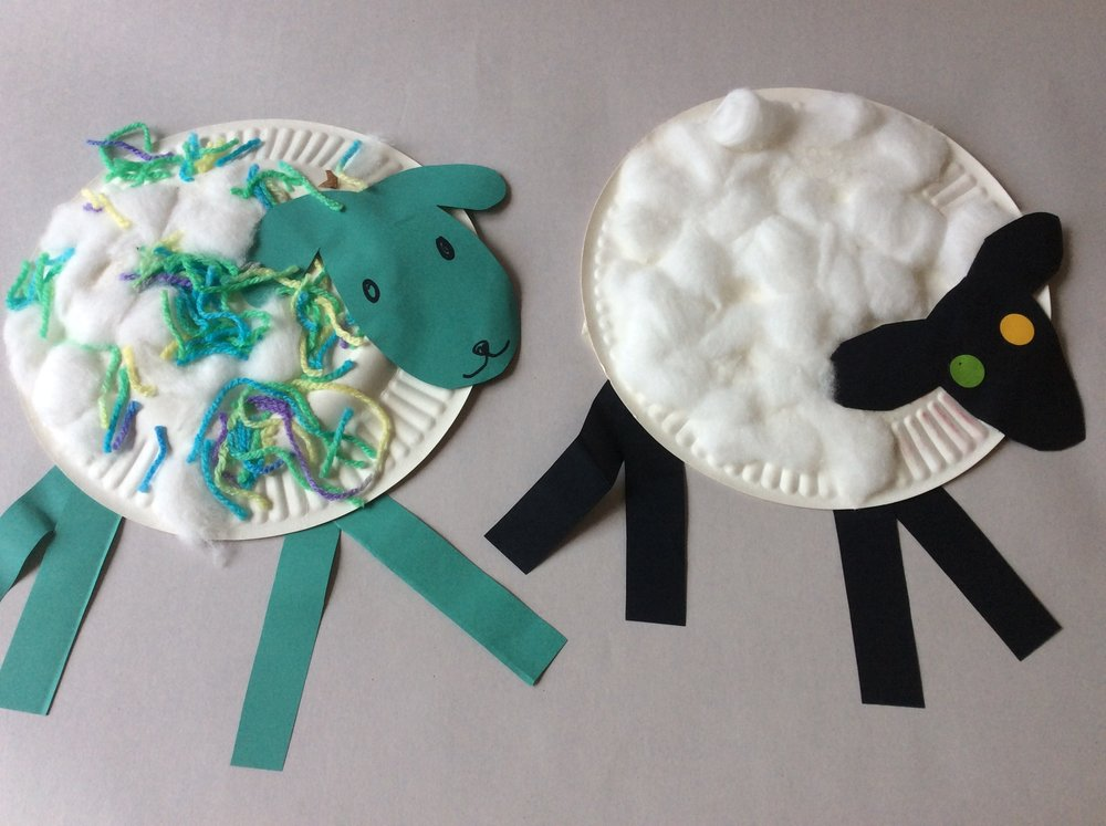"But ""where is the green sheep??"". Use plates to make characters from books your kds love."