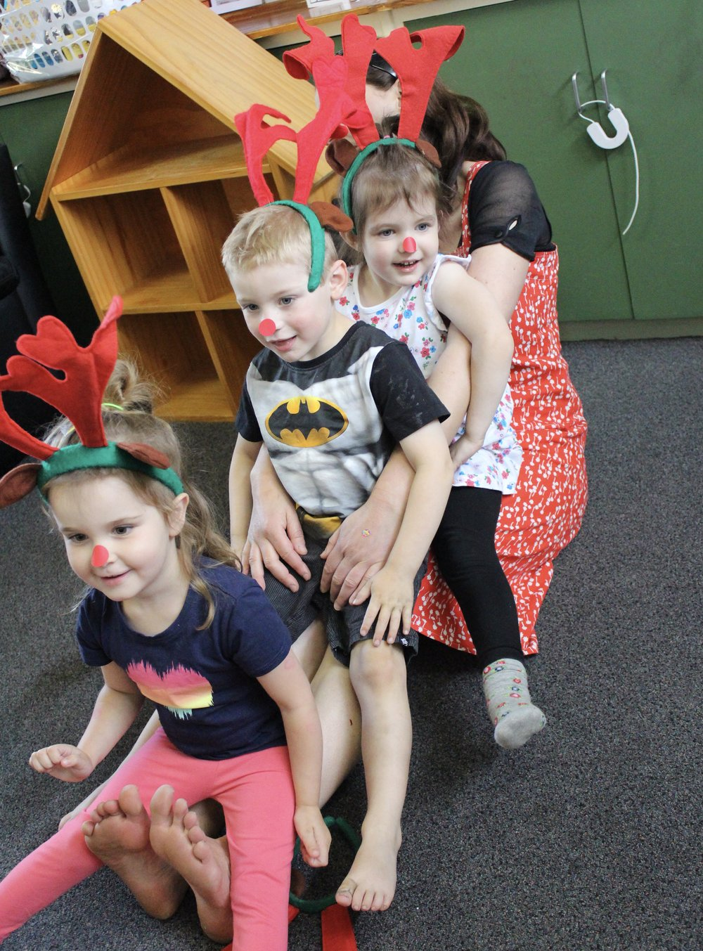 Three little reindeer - more than enough for MY legs!