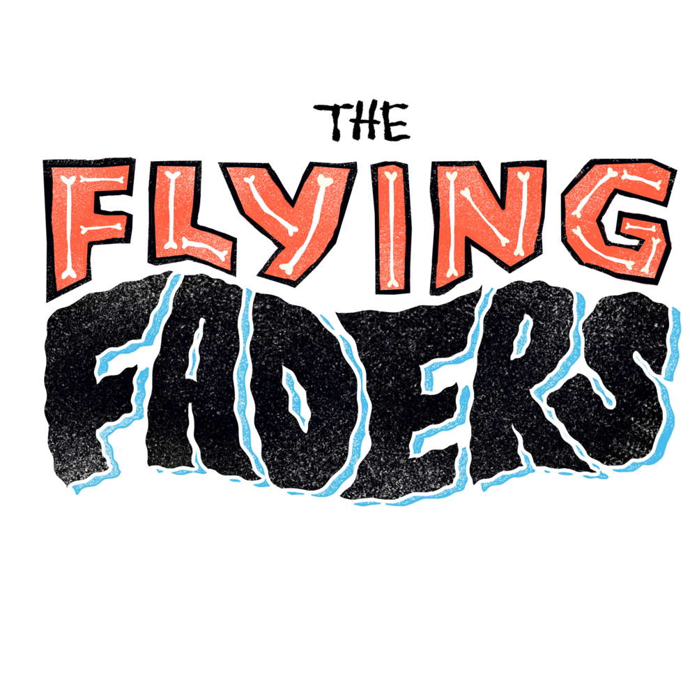 Logo design and rebrand for The Flying Faders, surf rock band from Baltimore, MD