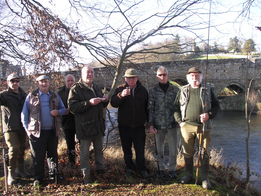 President George Armitt blessed the river at Dairsie Bridge on a sunny opening day before the first Casts. Tight lines.