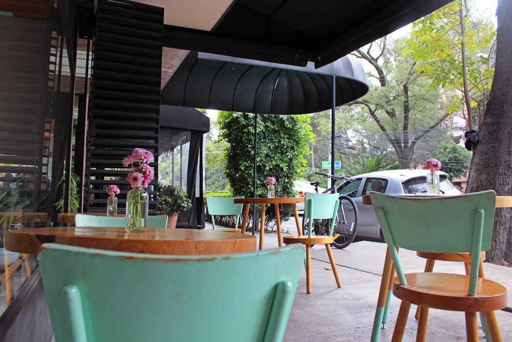 Street patio at Buna