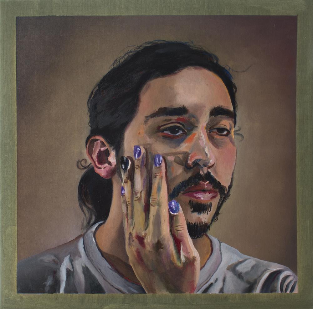 """Self-portrait Wearing Nail Polish"""