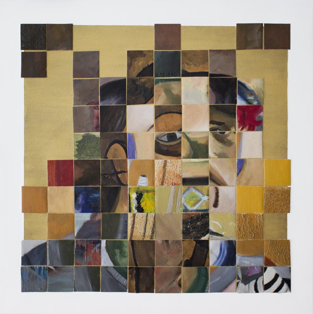"""Self-portrait after a Byzantine Icon"""