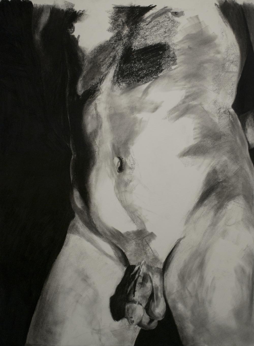"""Pose (a torso and lower hip study)"""