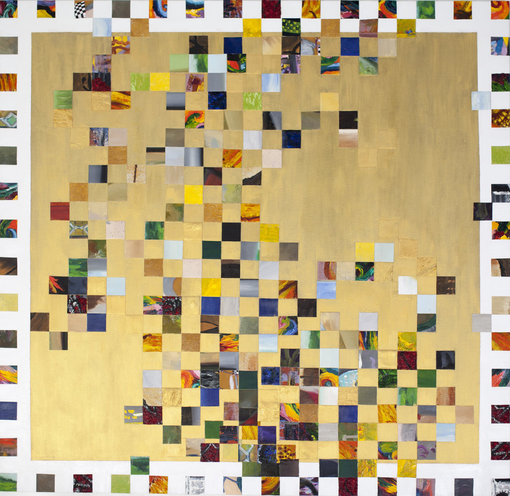 """Square Composition in Gold, 1"""