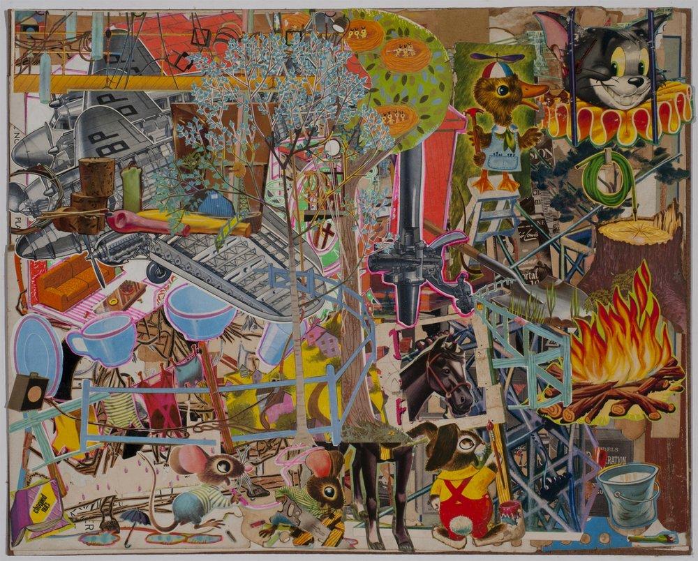 """Aircrash , 2016 Collage 16.00 x 20.00"""""""