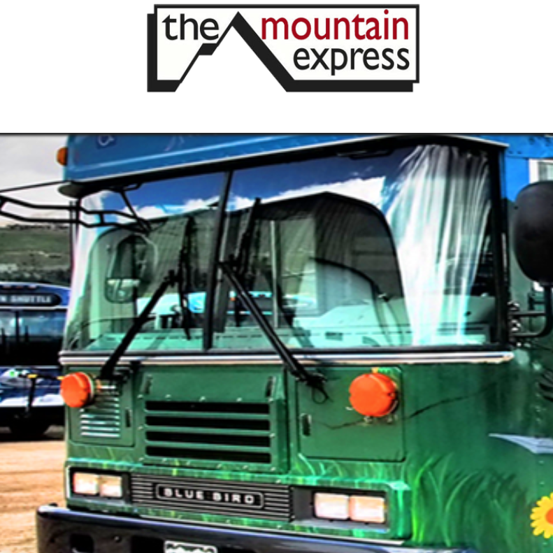 MOUNTAIN EXPRESS   (The Town Shuttle runs every 20 minutes from 7:35 AM to until Midnight between Crested Butte and Mt. Crested Butte)
