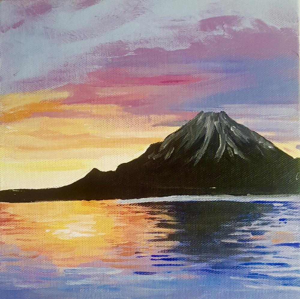 Mt. Fuji - Setting Sun