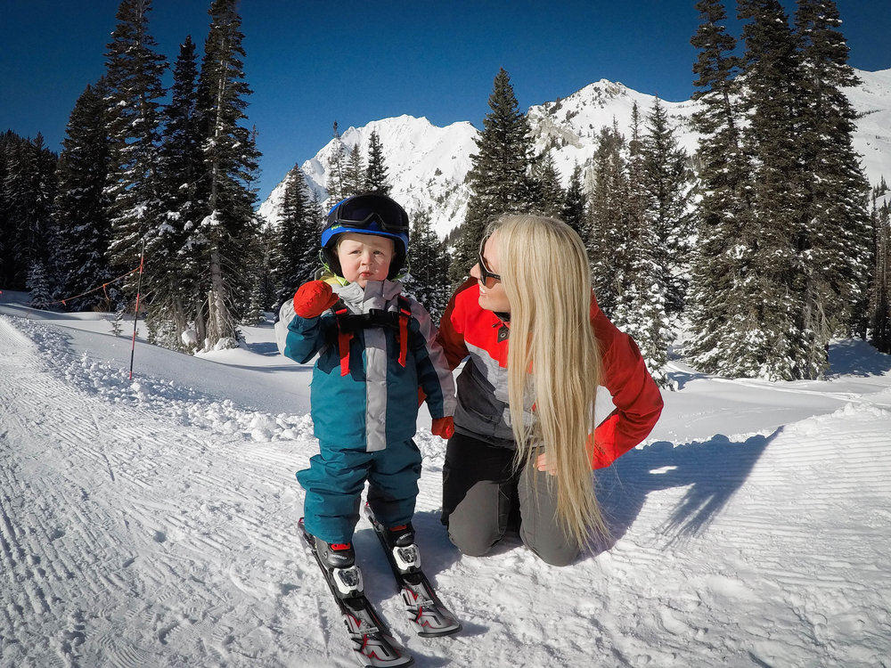 Read my followup post on tips to teaching toddlers to ski from an ACTUAL ski  instructor. baebf1cf6