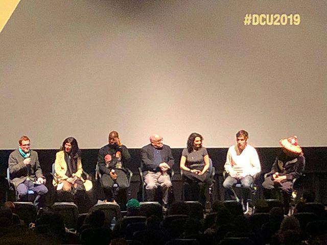 Still cannot believe last night with Debra Granik, Barry Jenkins, Paul Schrader, Tamara Jenkins, Bo Burnham and Boots Riley. 🙌🏽😍 #dcu2019