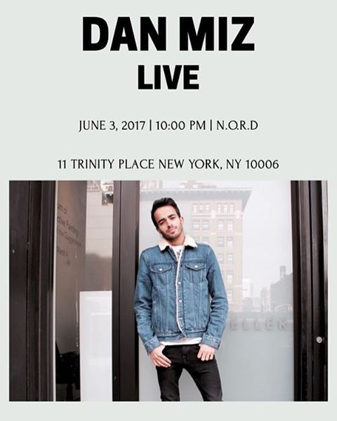 Playing live at N.O.R.D on June 3rd. Would love to see you all there! 11 Trinity Place NY 10006 #DMusic