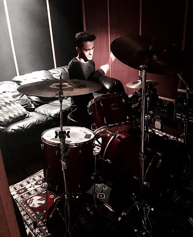 Started playing the drums at that age of 3, always great to sit down and get back at it. #DMusic