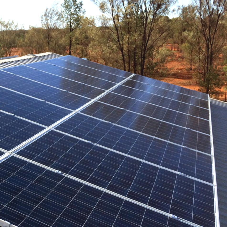 Western QLD solar installation