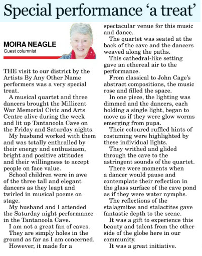 Review from South Eastern Times August 8th, 2017