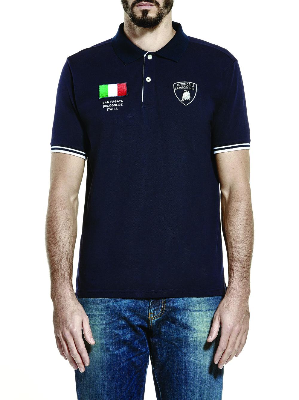 Men's Italian Flag Polo Shirt