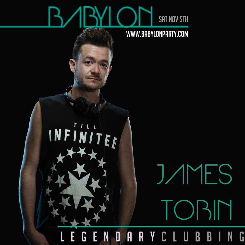 DJ JAMES TOBIN BABYLON