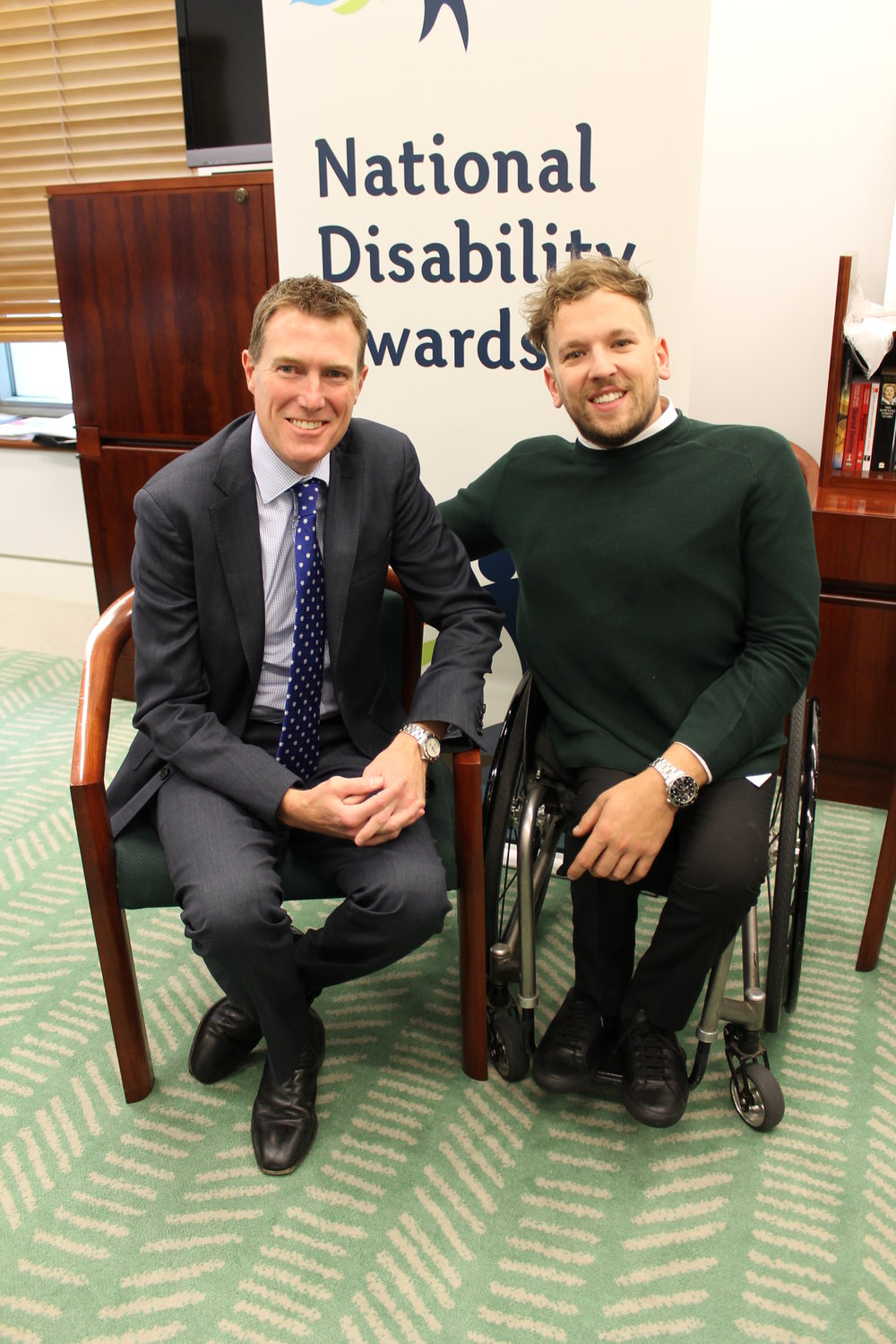 Christian Porter MHR and Dylan Alcott; Australia's Patron for 2017 International Day of People with Disability.