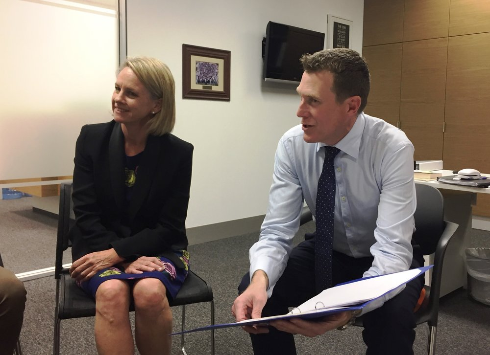 Minister Fiona Nash and MHR Christian Porter