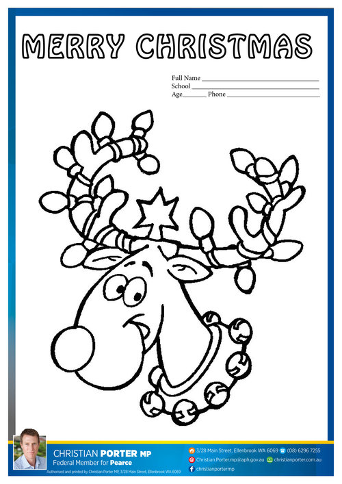 Christian Porter MP   Local News   Christmas colouring-in ...