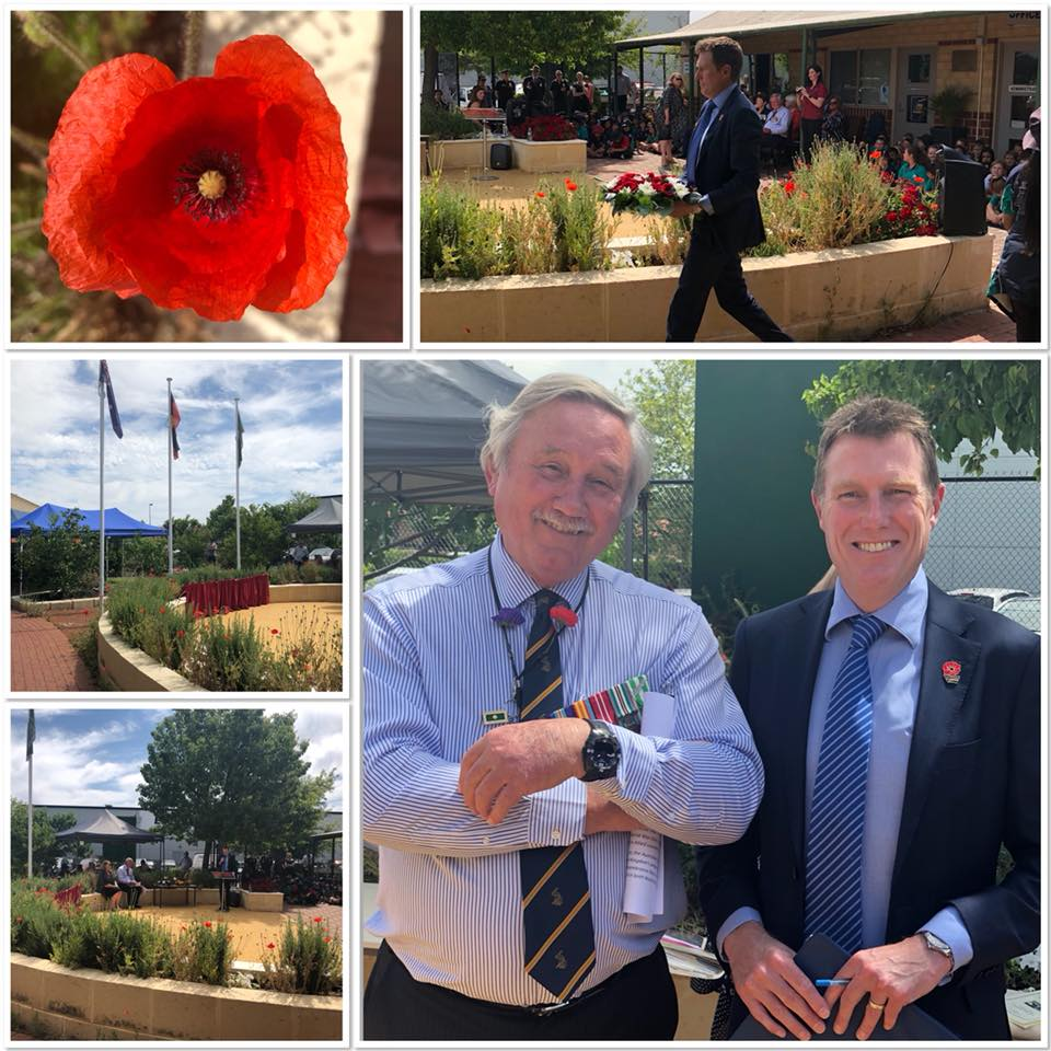 Ellenbrook IPS Principal and Veteran, Dr Neil MacNeill and MHR Christian Porter