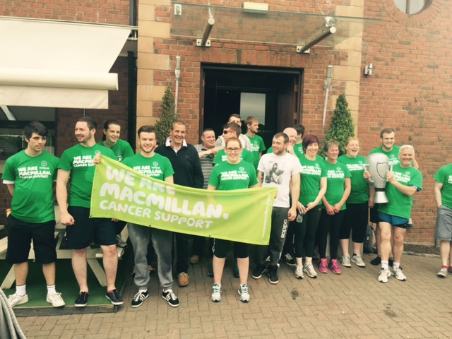 Totalis sponsored B&M Dragon Boats Team raising money for Macmillan Cancer Support.