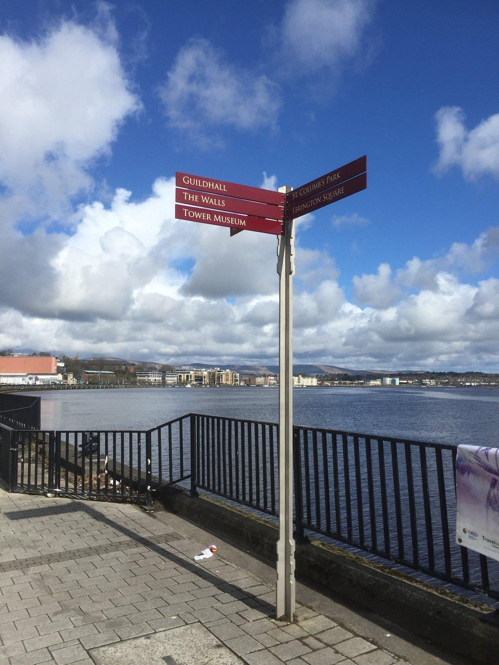 Derry City Council Finger Pole