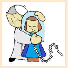 He has a big devotion to Our Lady and loves the image of 'Mary, undoer of knots.'