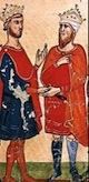 Empereor Frederick II with Melek el Kamal