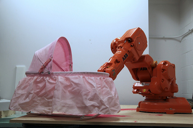 Optimization of Parenting, ABB Robot Arm, Digital Fabrication Laboratory, (dFab), CMU School of Architecture, 2012