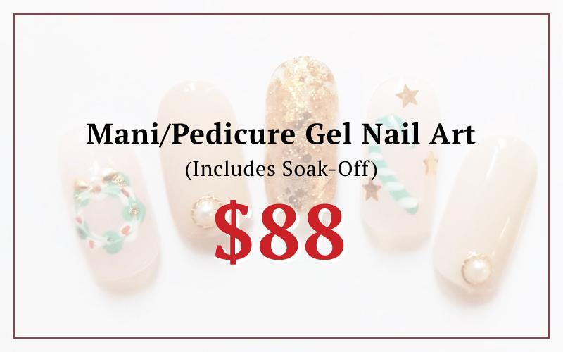 $88 Gel Nail Art (Mani/Pedi) (U.P. $130)