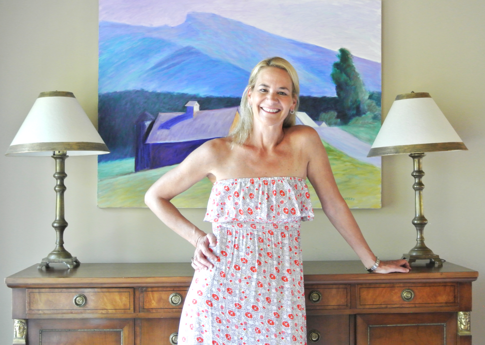 Personal stylist, Laura Briggs, at home in Marin County.