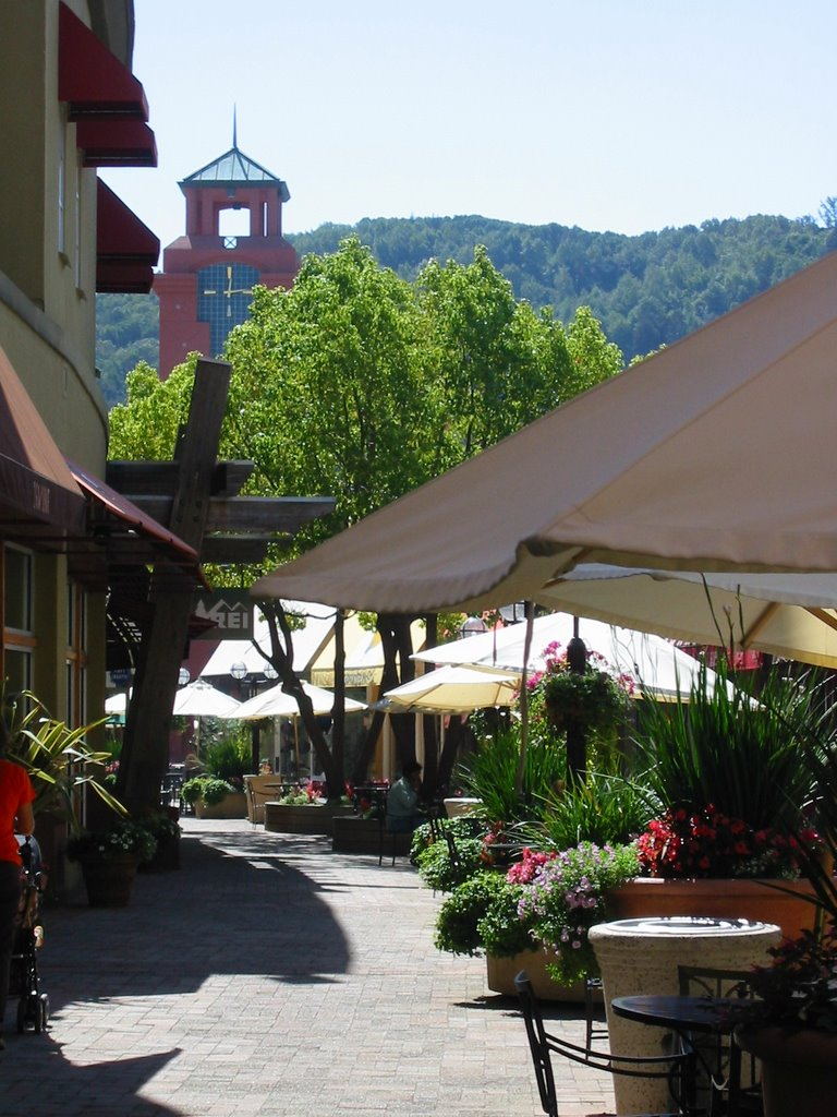 Town Center (mall) More low key than The Village, the Town Center is a nice place to hang out with a coffee on Saturday morning. Plenty of restaurant options and even a Safeway.