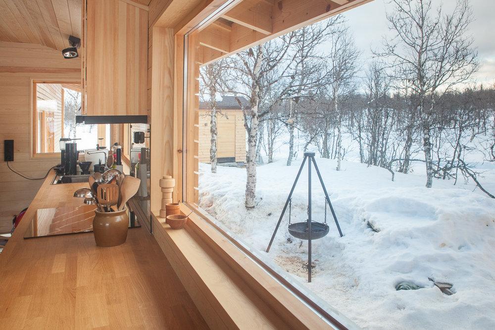 Utsikt fra kjøkkenbenken