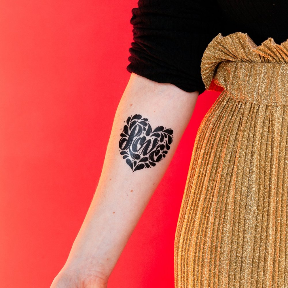 Shape of Love Tattoo | €4,50
