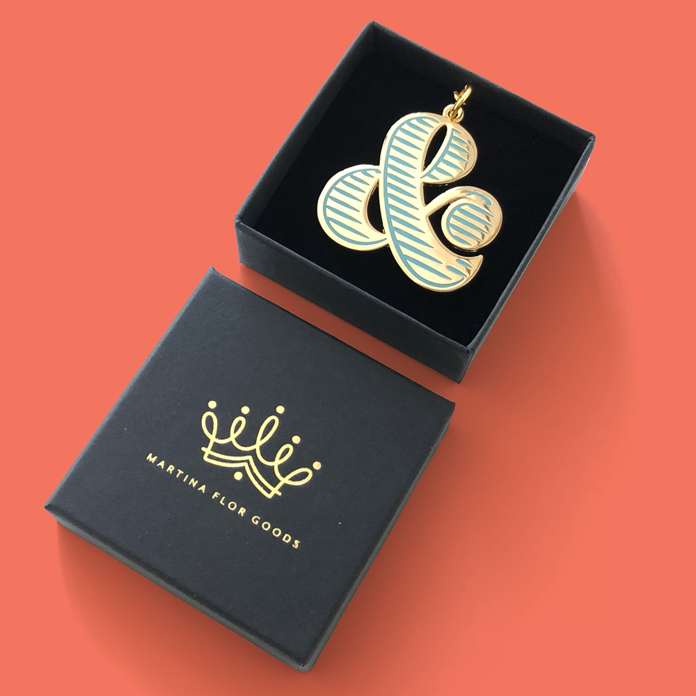 Gold Ampersand Keychain | €19,00