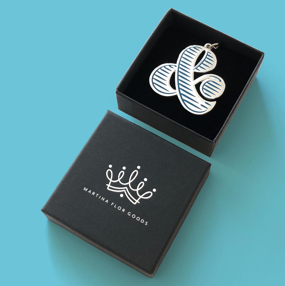 Silver Ampersand Keychain | €19,00