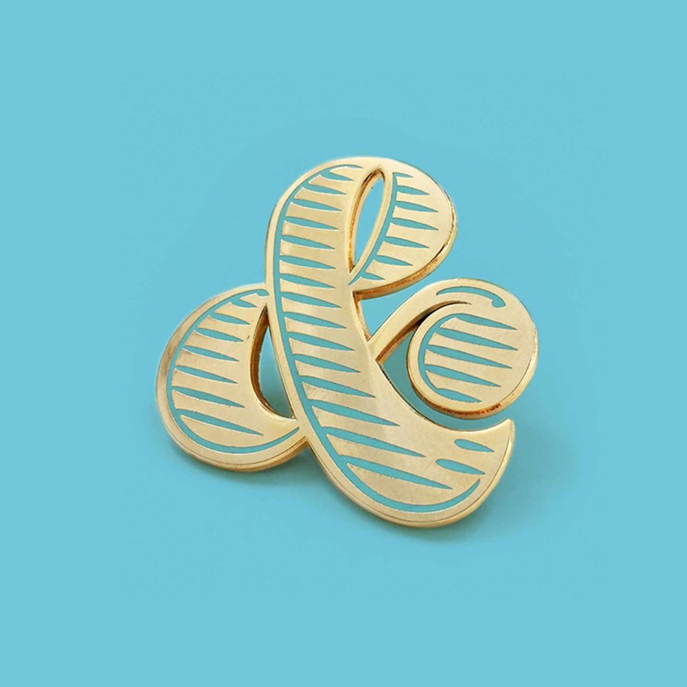 Mint Ampersand Brooch | €12,00
