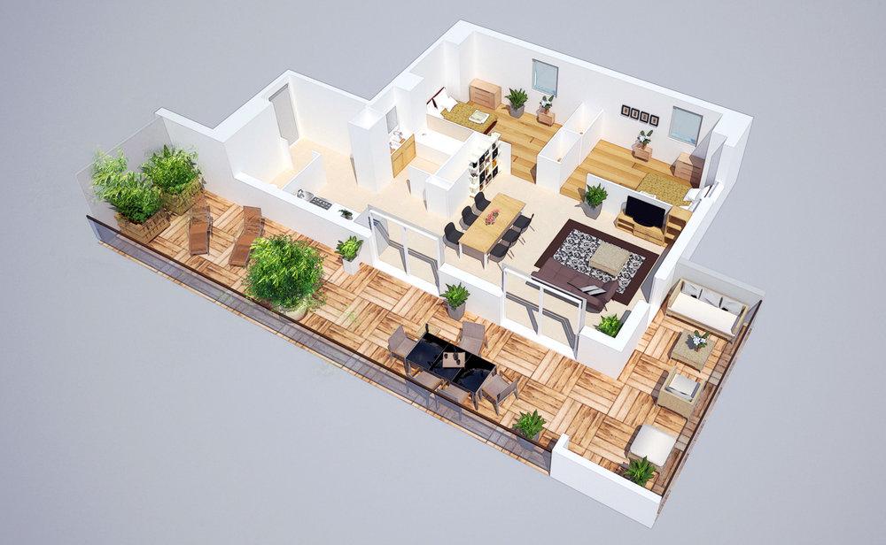 Représentation architecturale AMENAGEMENTS
