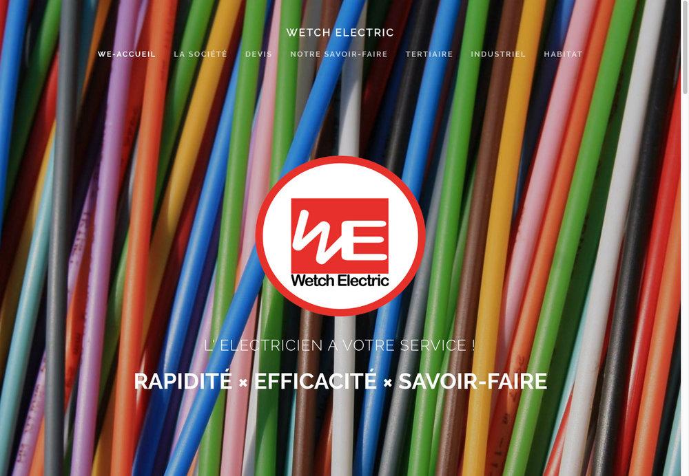 Webdesign WETCH ELECTRIC