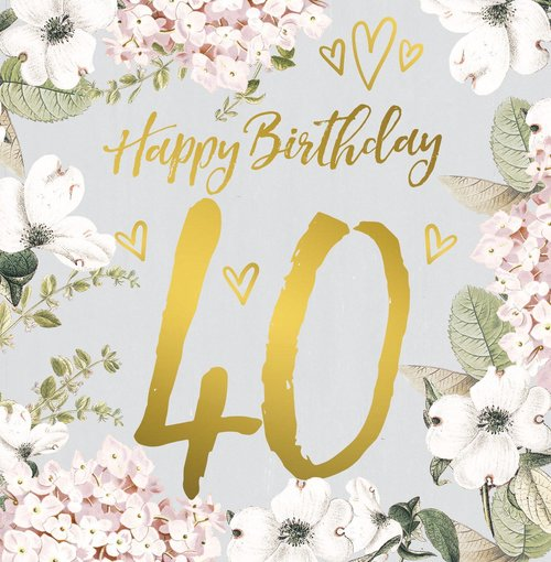 Lucy Ledger 40th Birthday Greeting Card The Falcons Nest
