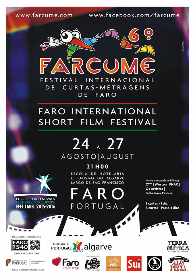 28 JULY, 2016  PORTUGAL PREMIERE    Nature Needs You   has been  officially selected  for the   6th FARCUME Festival International Curtas-Metragens De Faro  . The film will screen  24-27 August, 2016  in the magnificent coastal city of  Faro, Portugal.  The 9min short has been selected in the category of documentary alongside 23 other works from 10 countries.