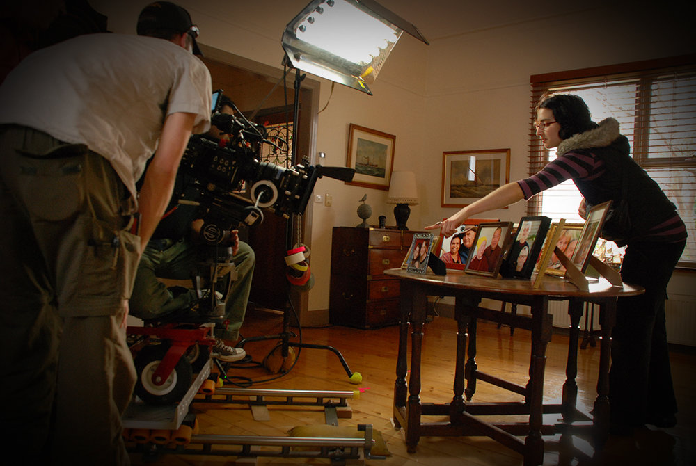 'On the set' for a Carers Australia television commercial.