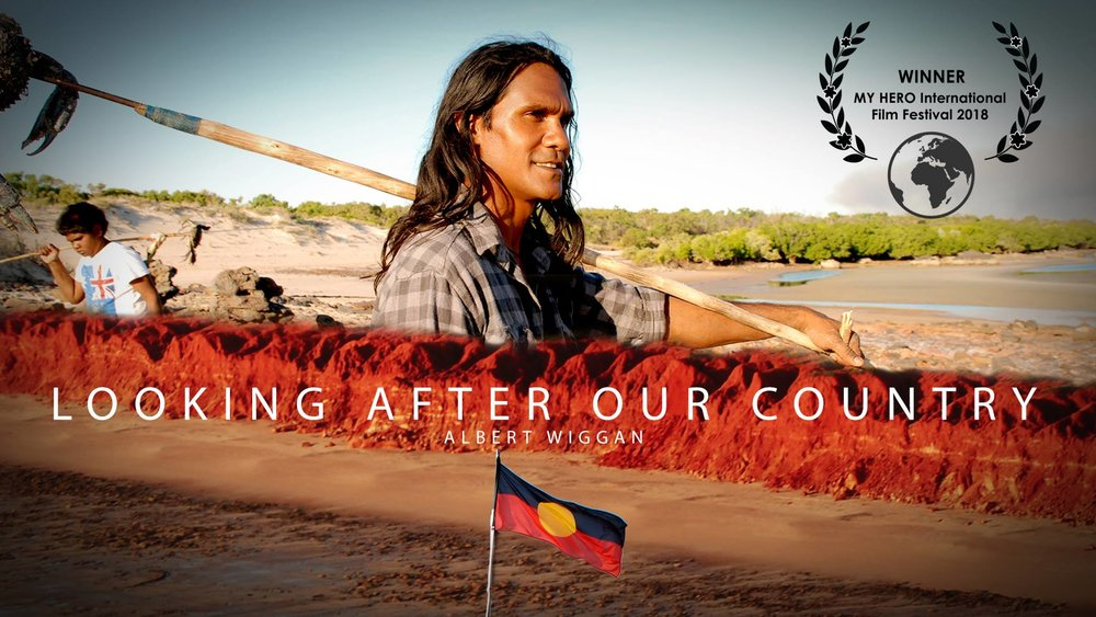"16th Dec, 2018  KIMBERLEY FILM WINS INTERNATIONAL PEOPLE'S CHOICE AWARD   ""Looking After Our Country"" has taken out the 2018 PEOPLES CHOICE AWARD at the My Hero International Film Festival! The people have spoken and selected the film as the winner! The team at My Hero are also blown away by the compassion, relevance and activism in this film.  The film also picked up the Runner-Up prize for A Professional Portrait of an Individual.  All the winners can be seen here    Thank you to the Wilderness Society and all who were part of this film and the Kimberley James Price Point campaign for contributing to a better world with your creativity and talent! Congratulations to Albert Wiggan for being selected as the People's Choice Hero, his partner, Vanessa Cox and the kids, Corbyn and Zirren who are growing up fast. And thank you to everyone from around the world who voted for this film about one man sharing the wisdom of the world's oldest culture."