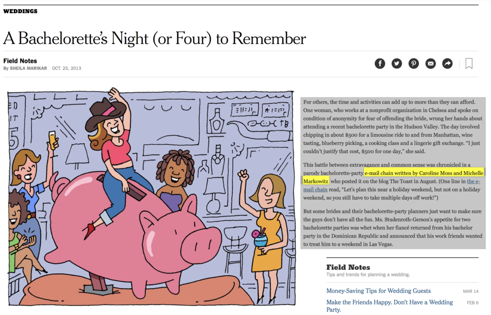 The New York Times. Read  here . October 2013.